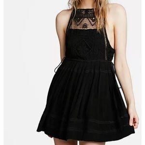 Free People Emily Crocheted Illusion Dress